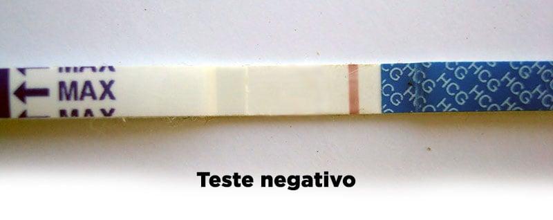 Teste de gravidez negativo - confirme-tiras