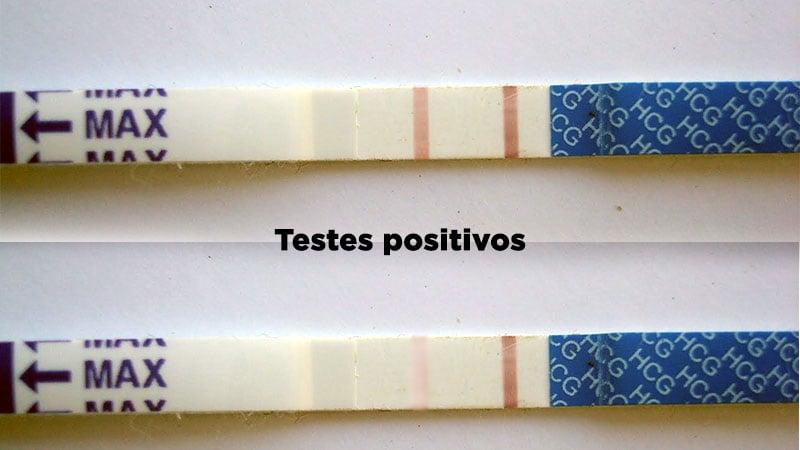 Teste de Gravidez positivo - Confirme em tira
