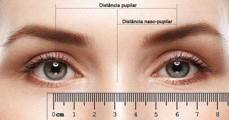 Distância naso-pupilar e pupilar