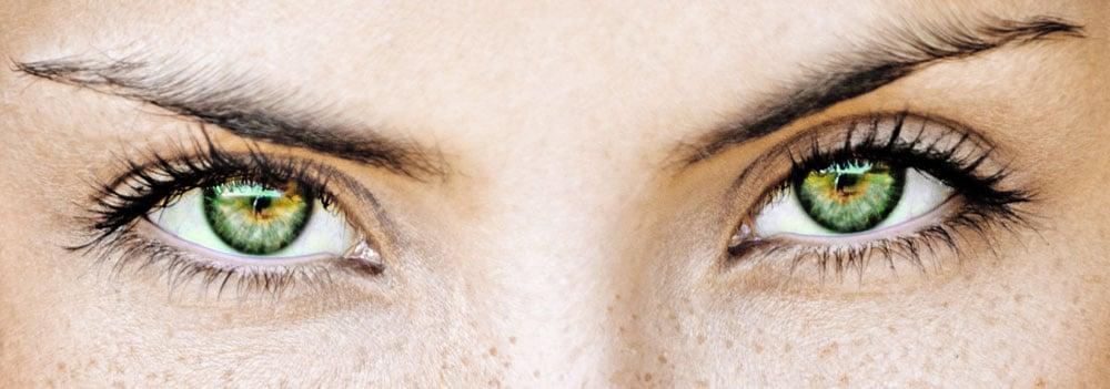 Olhos verdadeiramente verdes