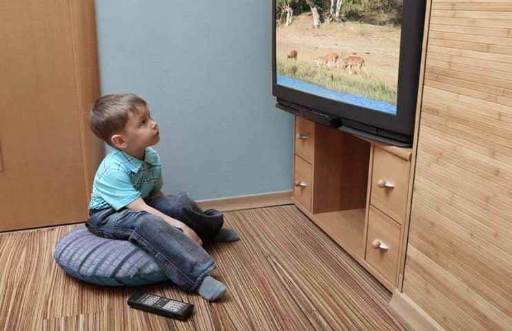 Ver televisión de cerca