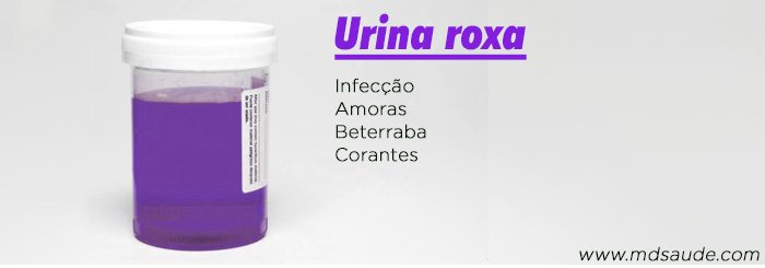 Causas de urina roxa